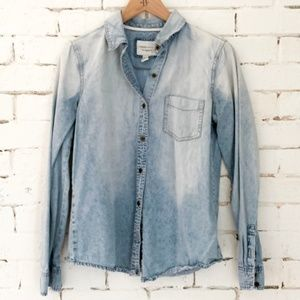 Forever 21 Chambray Button Down - M